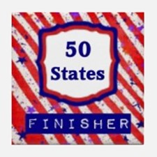 50 States Finisher Tile Coaster