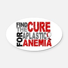 Find the Cure Aplastic Anemia Oval Car Magnet