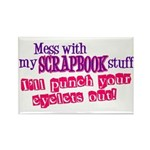 Mess With My Scrapbook Rectangle Magnet (10 pack)
