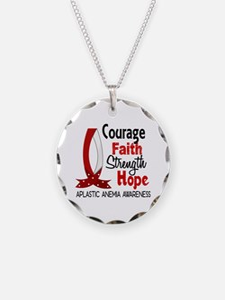 Courage Faith 1 Aplastic Ane Necklace