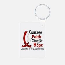 Courage Faith 1 Aplastic A Keychains