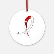 Aplastic Anemia Graffiti Ribbon Ornament (Round)