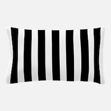Sleek black and white stripes Pillow Case