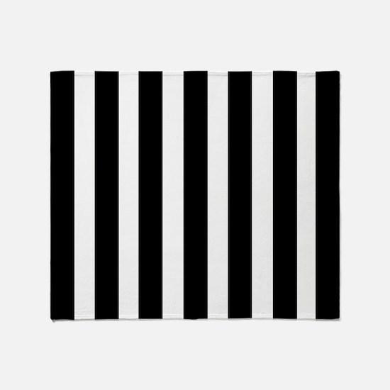 Sleek black and white stripes Throw Blanket