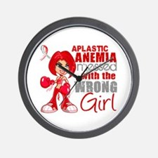 Aplastic Anemia Messed With Wrong Girl Wall Clock