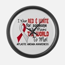 Aplastic Anemia Means World to Me Large Wall Clock
