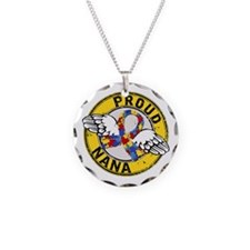 Autism Proud Nana 3 Yellow Necklace