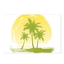 Green Palm Tree Postcards (Package of 8)