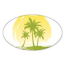 Green Palm Tree Decal