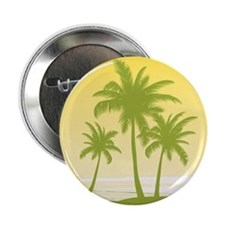 """Green Palm Tree 2.25"""" Button (100 pack)"""