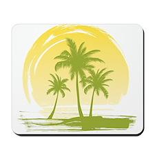 Green Palm Tree Mousepad