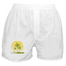 Green Palm Tree Boxer Shorts