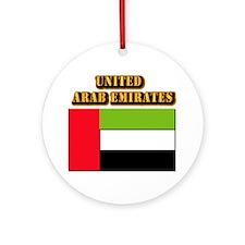 Flag of the United Arab Emirates Ornament (Round)