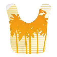 Orange Palm Tree Bib