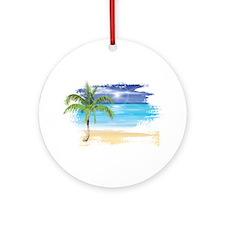 Beach Scene Ornament (Round)