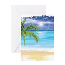 Beach Scene Greeting Cards