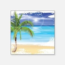 Beach Scene Sticker