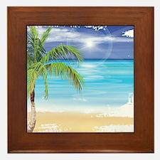 Beach Scene Framed Tile