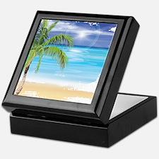 Beach Scene Keepsake Box