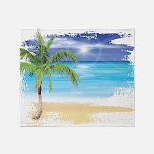 Beach Scene Throw Blanket