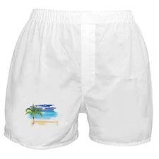 Beach Scene Boxer Shorts