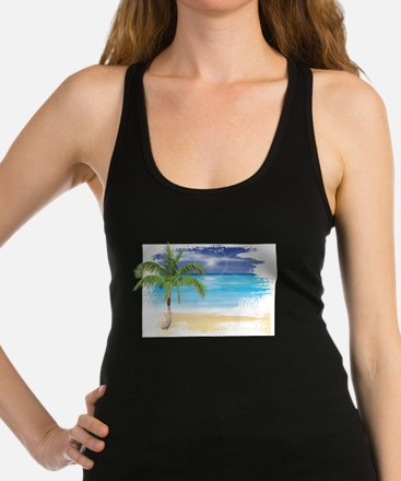 Beach Scene Racerback Tank Top