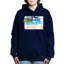 Beach Scene Hooded Sweatshirt