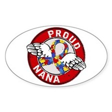 Autism Proud Nana 3 Red Decal