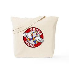 Autism Proud Nana 3 Red Tote Bag