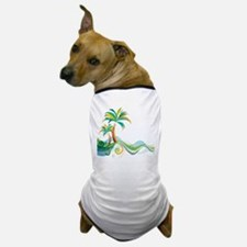 Rainbow Palm Tree Dog T-Shirt