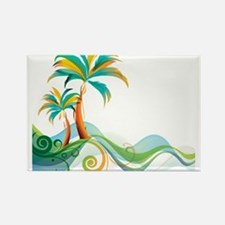 Rainbow Palm Tree Magnets