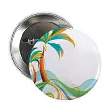 "Rainbow Palm Tree 2.25"" Button (100 pack)"