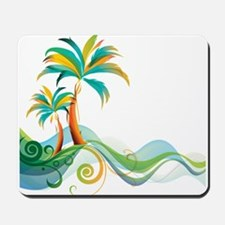 Rainbow Palm Tree Mousepad