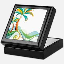 Rainbow Palm Tree Keepsake Box