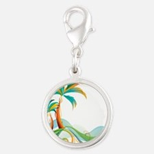 Rainbow Palm Tree Charms