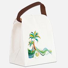 Rainbow Palm Tree Canvas Lunch Bag