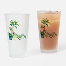 Rainbow Palm Tree Drinking Glass