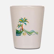 Rainbow Palm Tree Shot Glass