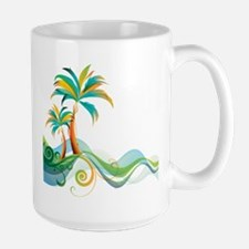 Rainbow Palm Tree Mugs