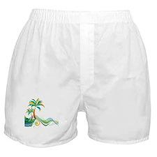Rainbow Palm Tree Boxer Shorts