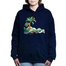 Rainbow Palm Tree Hooded Sweatshirt
