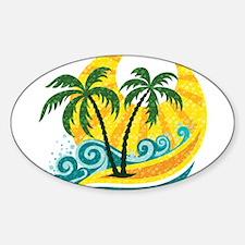 Sunny Palm Tree Decal