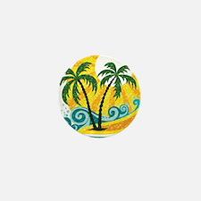 Sunny Palm Tree Mini Button