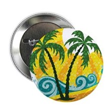 """Sunny Palm Tree 2.25"""" Button (100 pack)"""