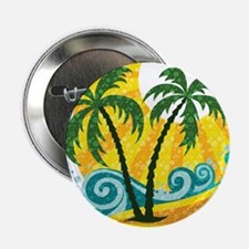 "Sunny Palm Tree 2.25"" Button"