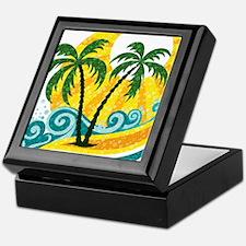 Sunny Palm Tree Keepsake Box