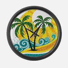 Sunny Palm Tree Large Wall Clock