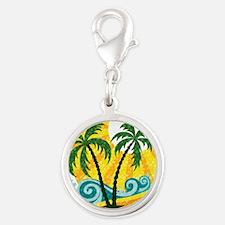 Sunny Palm Tree Charms