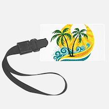 Sunny Palm Tree Luggage Tag