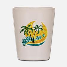 Sunny Palm Tree Shot Glass